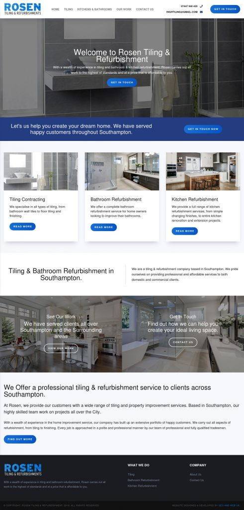 Rosen Tiling - строителни ремонти, изработка на бани и други - tiling-hampshire.co.uk - изработка на сайт, SEO